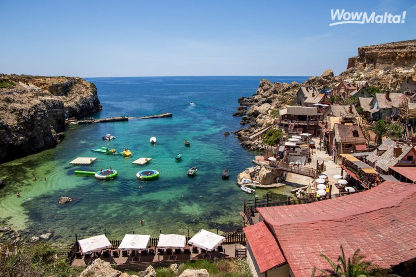 Malta Popeye Village Mellieha Things to do Top attraction sea sun summer swim beach bay adventure WowMalta (1)